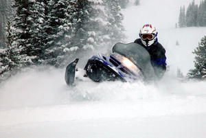 Snowmobiling Wyoming. Photo courtesy Dave Bell.
