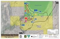 Nordic Ski Trail Map for CCC Pond area. Map courtesy Sublette County Recreation Board.