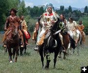 Shoshone Indians at the Rendezvous Pageant